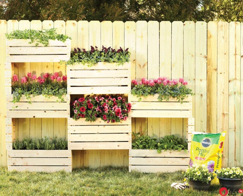 Стена с цветя