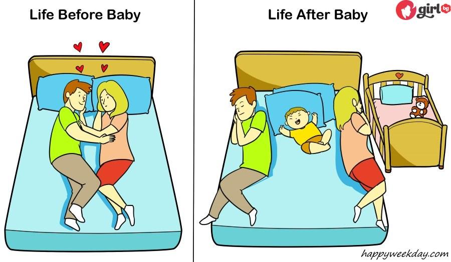 живота преди и след бебето