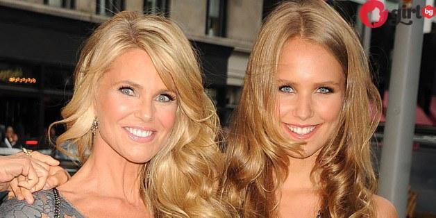 Кристин Бринкли и дъщеря ѝ