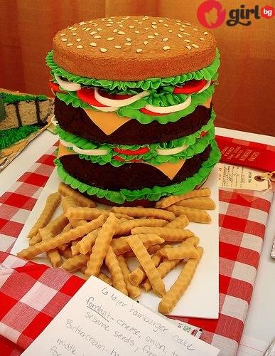 Торта бургер