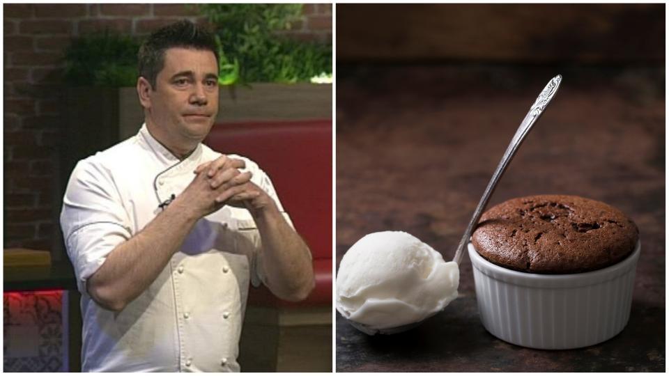 Супер рецептата на Виктор Ангелов за шоколадово суфле със сабайон